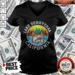 Perfect Fish Lake Berryessa California V-neck