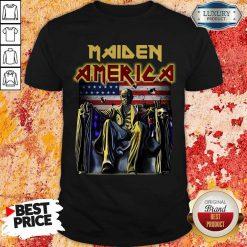 Perfect Iron Maiden American Flag Shirt