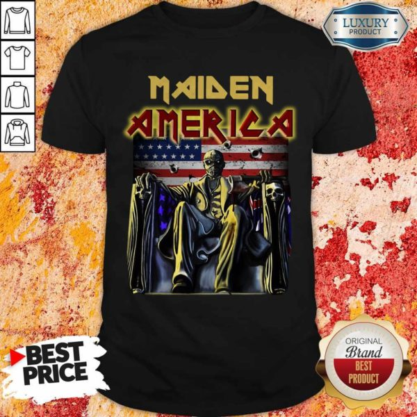 Perfect Iron Maiden American Flag Shirt