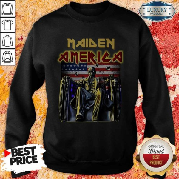 Perfect Iron Maiden American Flag Sweatshirt