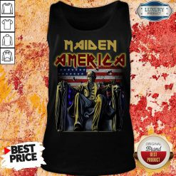 Perfect Iron Maiden American Flag Tank Top