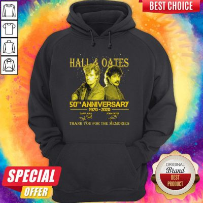 Premium Hall 'Oates 50th Anniversary 1970 2020 Thank You For The Memories Signatures Hoodie