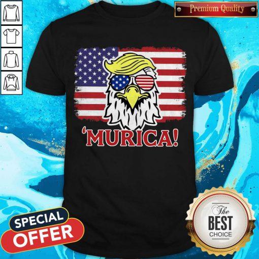 Premium Murica Trump Eagle American Flag 4th July Shirt