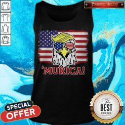 Premium Murica Trump Eagle American Flag 4th July Tank Top