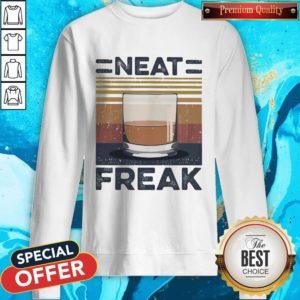 Premium Tea Neat Freak Vintage Retro Sweatshirt