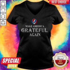 Pretty Grateful Dead Steal Your Face Make America Grateful Again V-neck