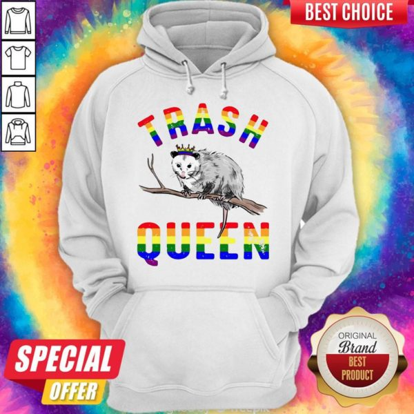 Pretty LGBT Opossum Trash Queen Hoodie