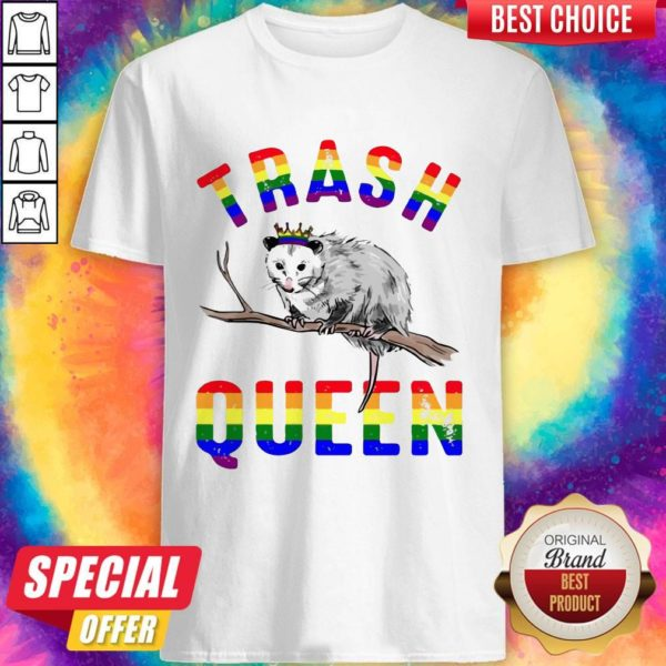 Pretty LGBT Opossum Trash Queen Shirt