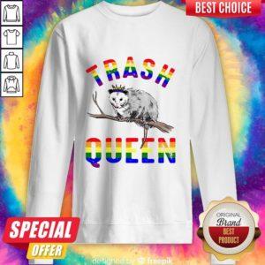 Pretty LGBT Opossum Trash Queen Sweatshirt