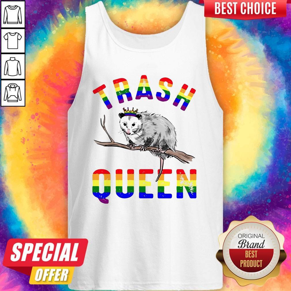 Pretty LGBT Opossum Trash Queen Tank Top