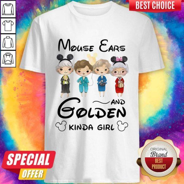 Pretty Mickey Mouse Cars And Golden Kinda Girl Shirt