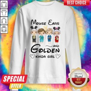 Pretty Mickey Mouse Cars And Golden Kinda Girl Sweatshirt
