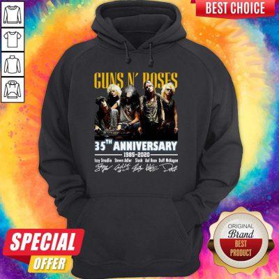 Top Guns N' Roses 35th Anniversary 1985 2020 Signatures Hoodie