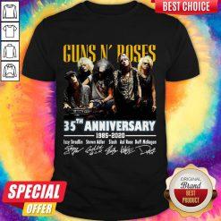 Top Guns N' Roses 35th Anniversary 1985 2020 Signatures Shirt