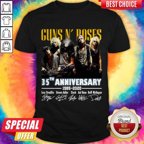Top Guns N' Roses 35th Anniversary 1985 2020 Signatures Shirt