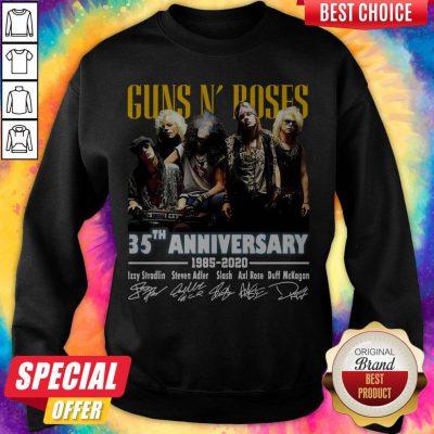 Top Guns N' Roses 35th Anniversary 1985 2020 Signatures Sweatshirt