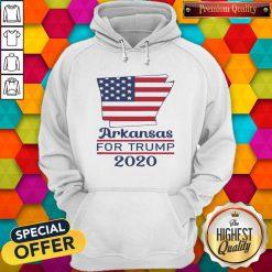 Arkansas For Donald Trump 2020 Flag Hoodie