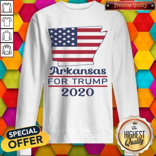 Arkansas For Donald Trump 2020 Flag Sweatshirt