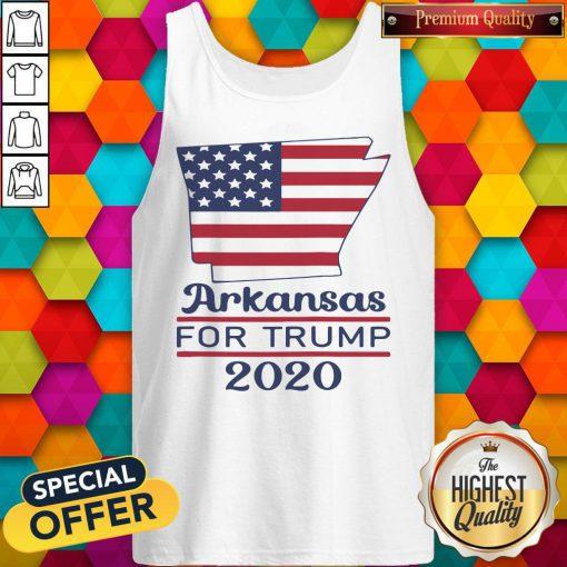 Arkansas For Donald Trump 2020 Flag Tank Top