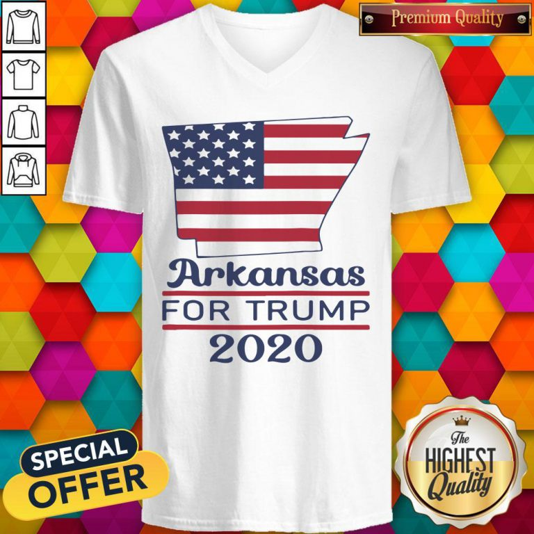 Arkansas For Donald Trump 2020 Flag V-neck