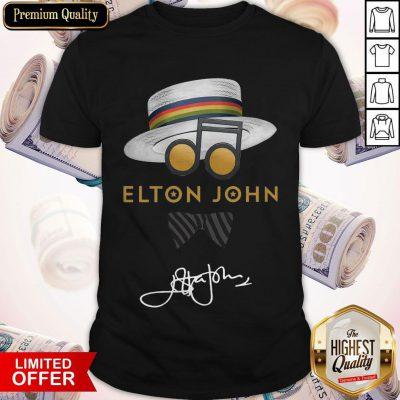 Awesome Elton John Hat Signature Shirt