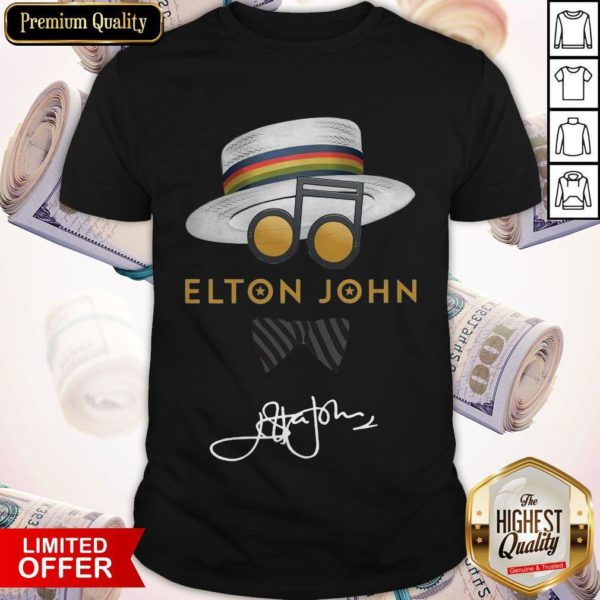 Awesome Elton John Hat Signature Shirt