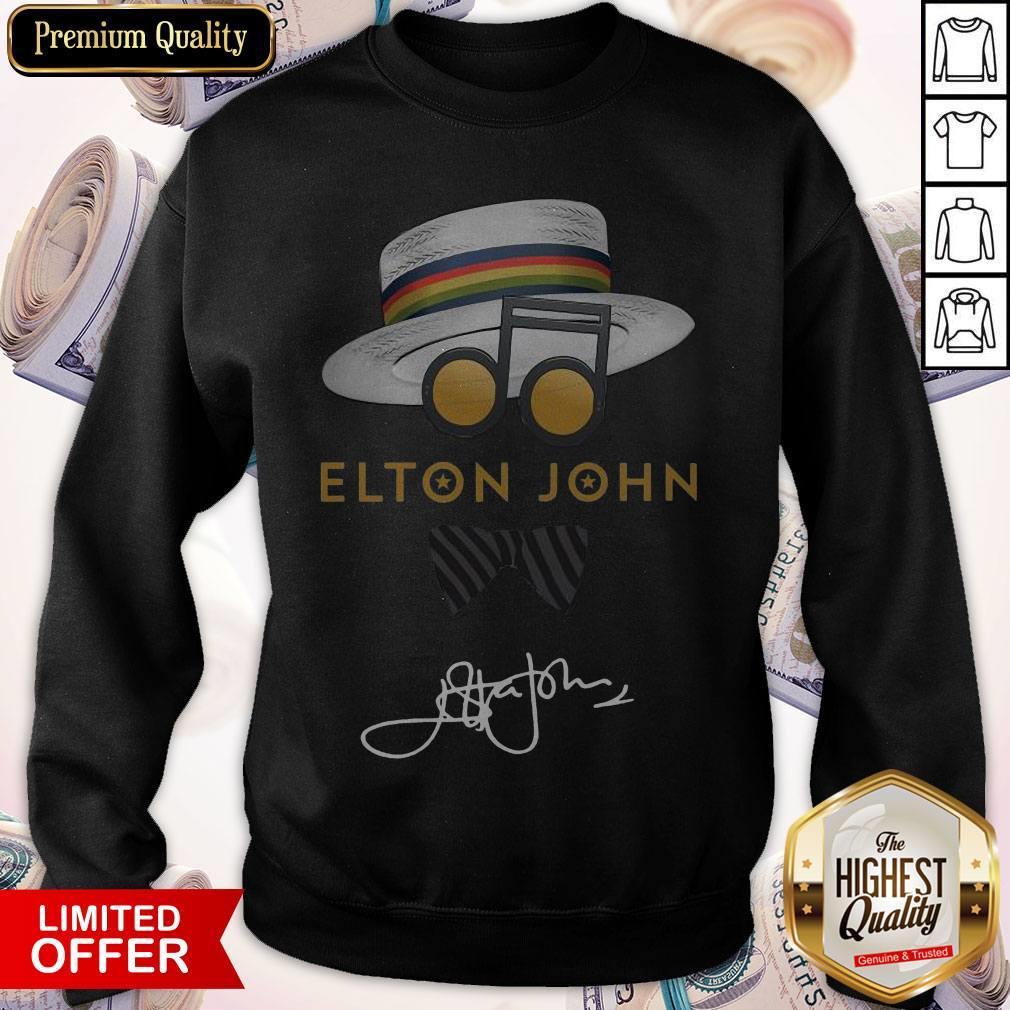 Awesome Elton John Hat Signature Sweatshirt