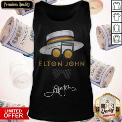 Awesome Elton John Hat Signature Tank Top