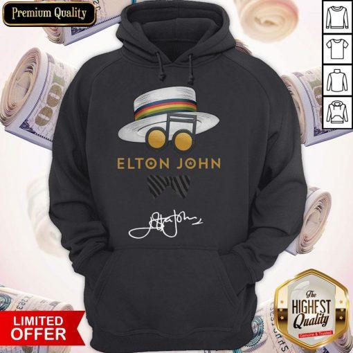 Awesome Elton John Hat Signature Hoodie