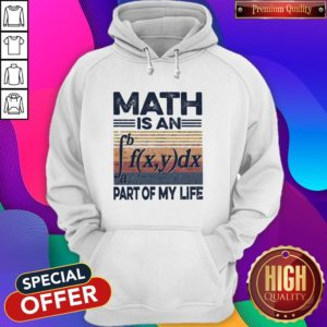 Awesome Math Is An Part Of My Life Vintage Hoodie