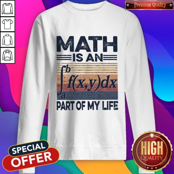 Awesome Math Is An Part Of My Life Vintage Sweatshirt