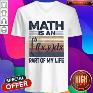 Awesome Math Is An Part Of My Life Vintage V-neck