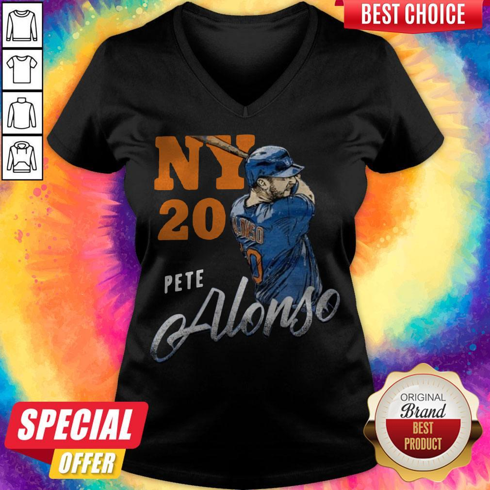 Awesome New York 20 Pete Alonso V-neck