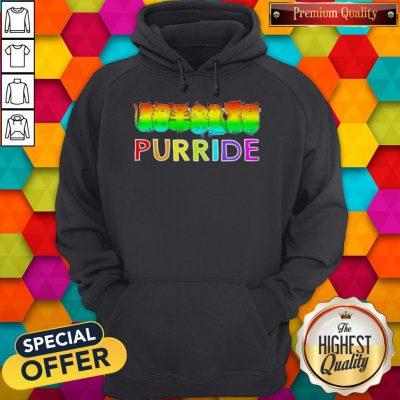 Awesome Purride Cat Lgbt Pride Women's Hoodie