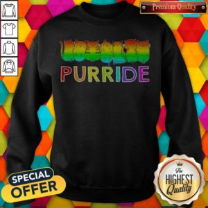 Awesome Purride Cat Lgbt Pride Women's Sweatshirt