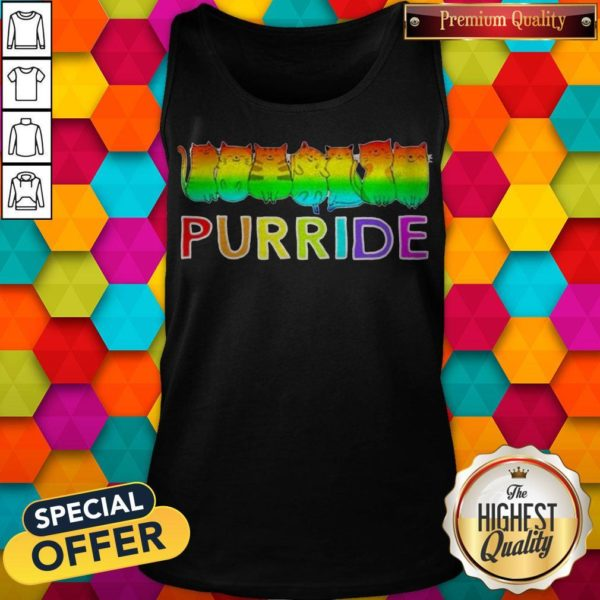 Awesome Purride Cat Lgbt Pride Women's Tank Top