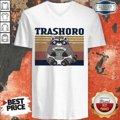 Awesome Racoon Trashoro Vintage V-neck