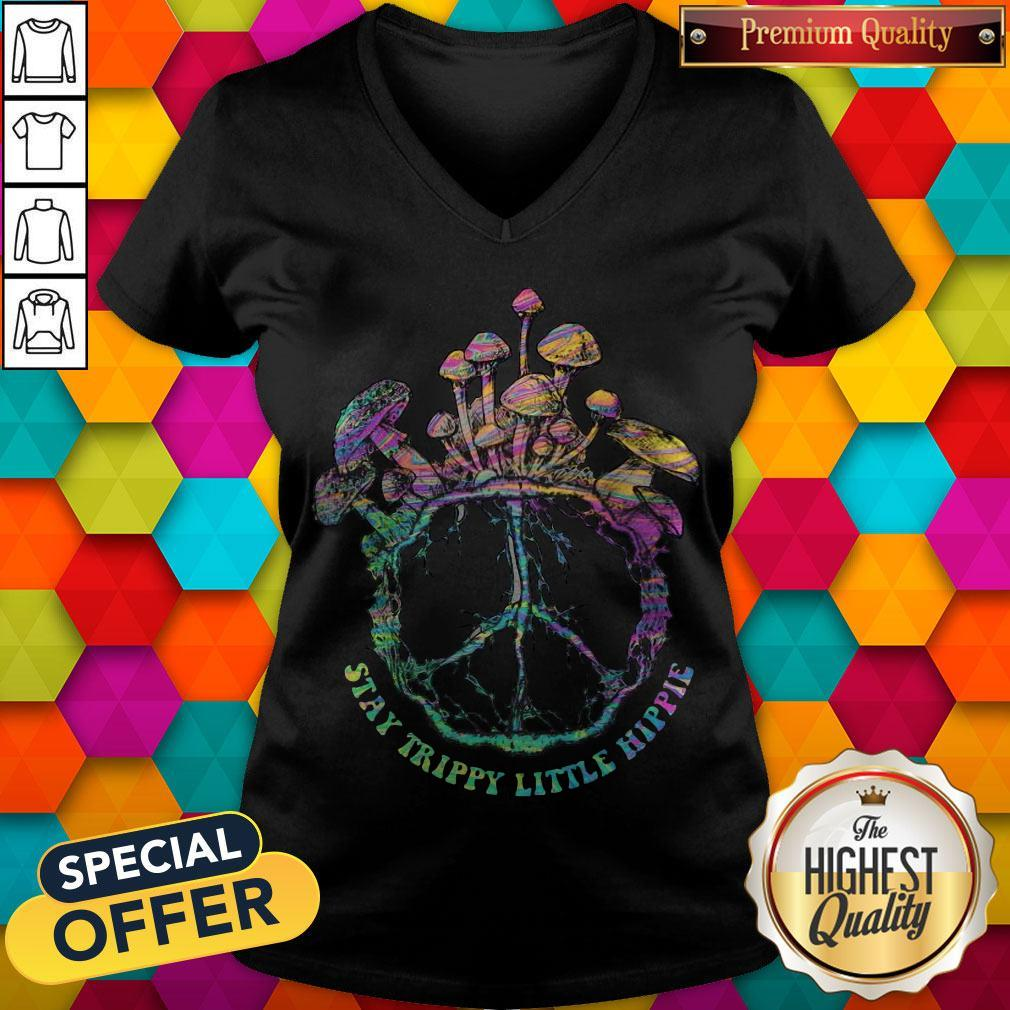 Beauty Stay Trippy Little Hippie Mushroom V-neck