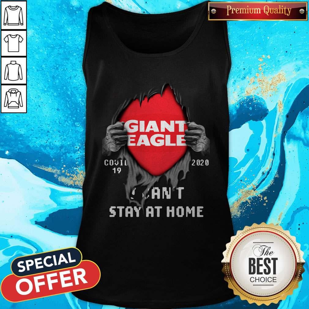 Blood Inside Giant Eagle Covid 19 2020 I Can't Stay At Home Tank Top