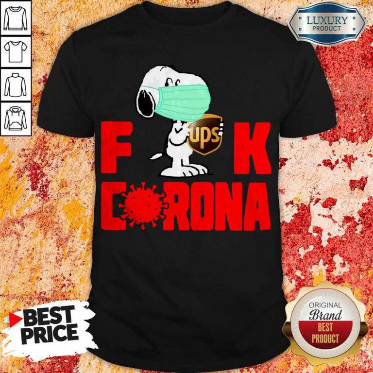 Cute Snoopy Face Mask Hug Ups Fuck Coronavirus Shirt