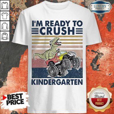 Cute Tyrannosaurus I'm Ready To Kindergarten Vintage Shirt