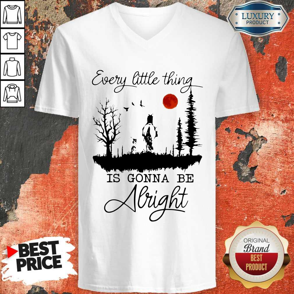 Good Every Little Thing Is Gonna Be Alright Horse V-neck