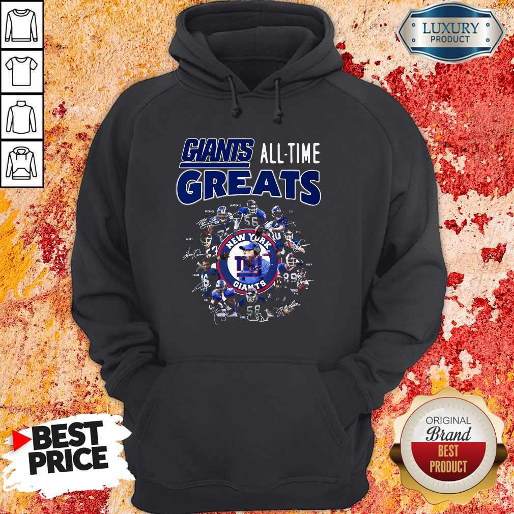 Good New York Giants Football All Time Greats Players Signatures Hoodie