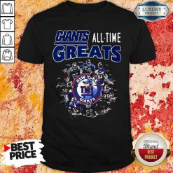 Good New York Giants Football All Time Greats Players Signatures Shirt