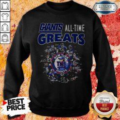 Good New York Giants Football All Time Greats Players Signatures Sweatshirt