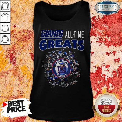 Good New York Giants Football All Time Greats Players Signatures Tank Top
