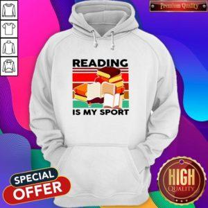 Good Reading Books Is My Sport Vintage Hoodie