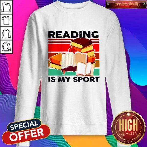 Good Reading Books Is My Sport Vintage Sweatshirt