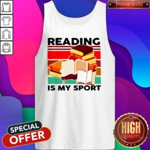 Good Reading Books Is My Sport Vintage Tank Top