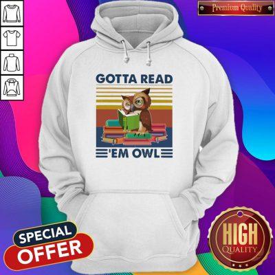 Gotta Read 'em Owl Vintage Hoodie